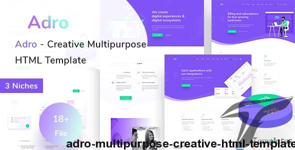 Adro - Multipurpose Creative HTML Template by template_path