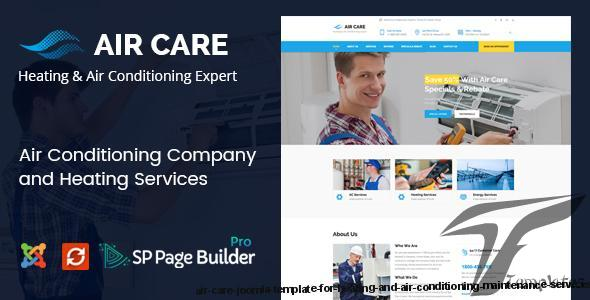 Air Care - Joomla Template for Heating and Air Conditioning Maintenance Services by joomlabuff