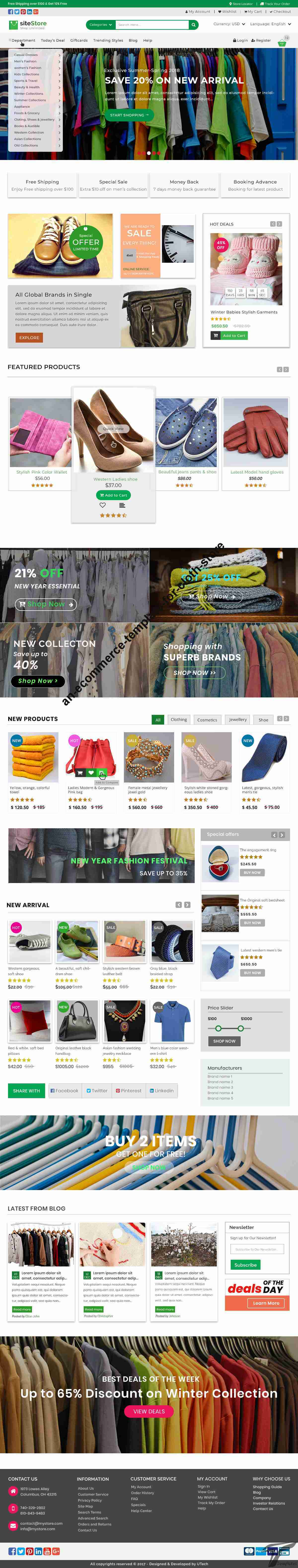 An E-commerce Template for cloth store Screenshots