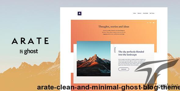 Arate - Clean and Minimal Ghost Blog Theme by fueko