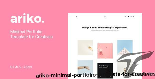Ariko - Minimal Portfolio Template for Creatives by pxlsolutions