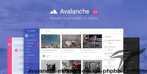 Avalanche - Material Design phpBB 3.2 Theme by komidesign