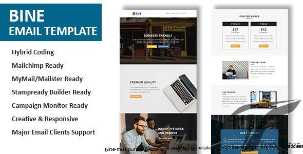 Bine - Multipurpose Responsive Email Template with Online StampReady Builder Access by pennyblack