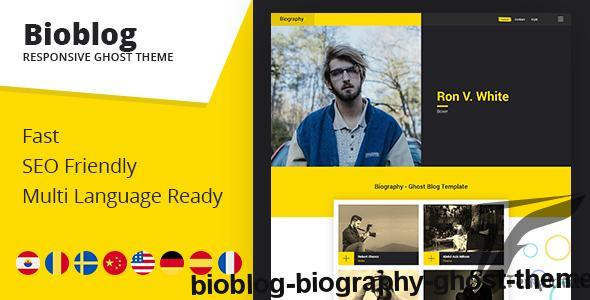 Bioblog - Biography Ghost Theme by themeix