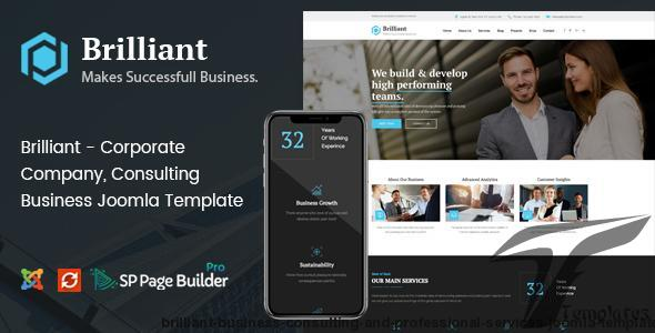Brilliant - Business Consulting and Professional Services Joomla Template by joomlabuff
