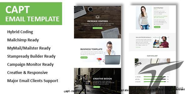 Capt - Multipurpose Responsive Email Template With Online StampReady Builder Access by pennyblack
