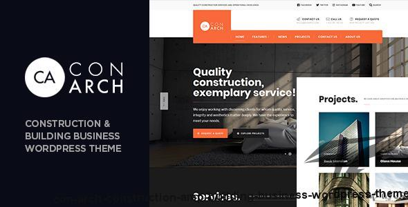 Con Arch - Construction & Building Business WordPress Theme by dannci