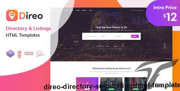 Direo - Directory & Listing HTML Template by aazztech