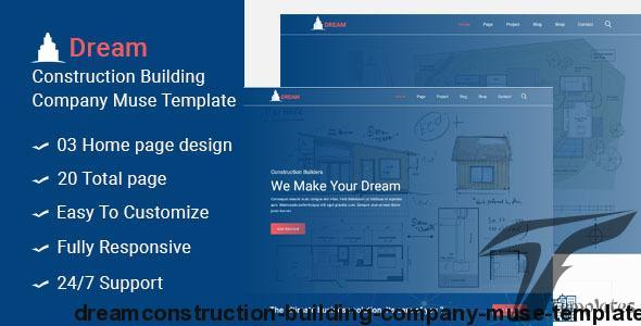 Dream-Construction Building Company Muse Template by easy-tech