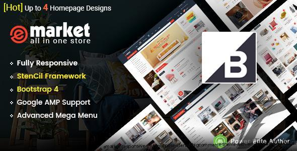 eMarket -Responsive Multipurpose StenCil BigCommerce Theme with Advanced Theme Option by magentech
