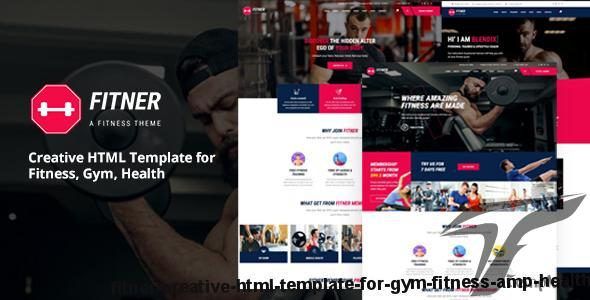 Fitner - Creative HTML Template for Gym, Fitness & Health by wpsprite