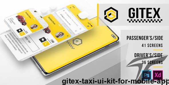 Gitex – Taxi Ui Kit for Mobile App by meconata