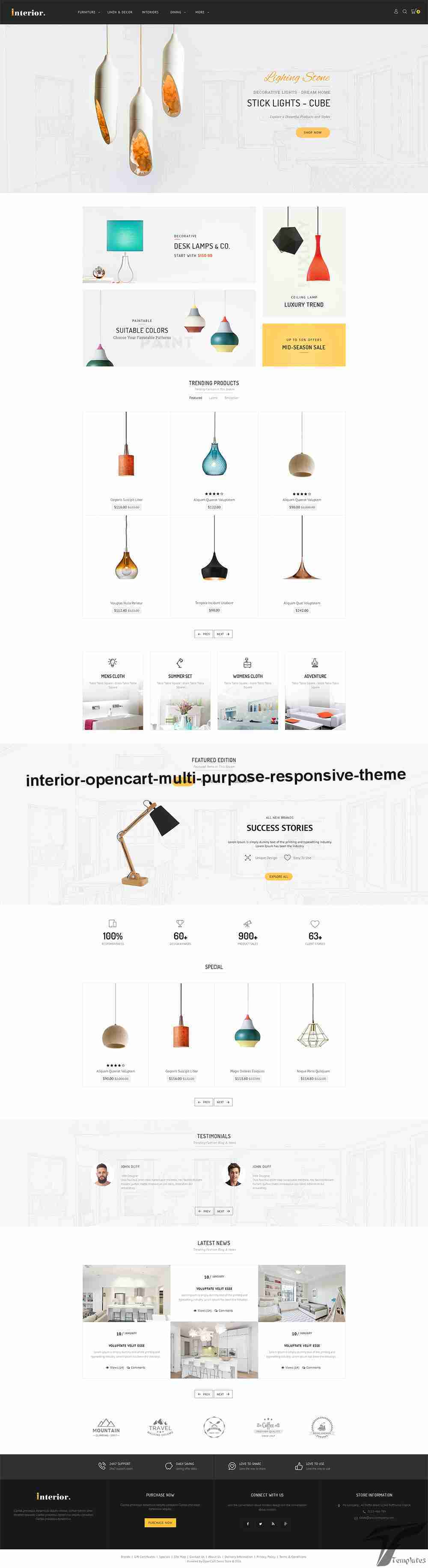 Interior - Opencart Multi Purpose Responsive Theme Screenshots