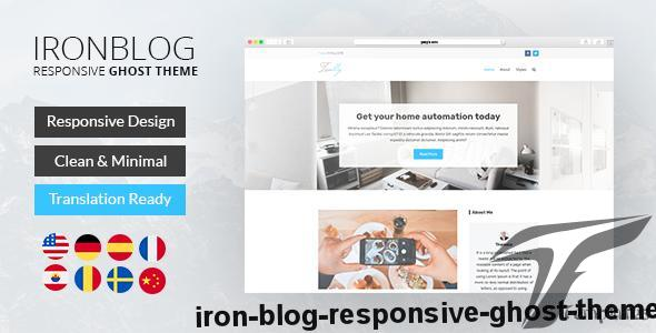 Iron Blog - Responsive Ghost Theme by themeix