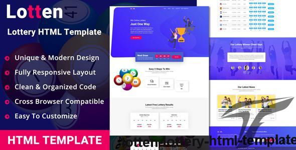 Lotten - Lottery HTML Template by brotherslab