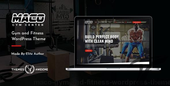 Maco | Gym and Fitness WordPress Theme by themesawesome