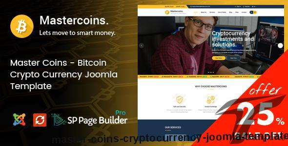 Master Coins - Cryptocurrency Joomla Template by joomlabuff