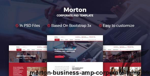 Morton Business & Corporate Template by rivathemes