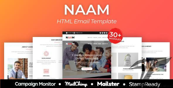 NAAM - Multipurpose Agency Email Template with StampReady, Mailster, Mailchimp, Campaign Monitor by akshrav