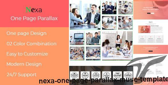 Nexa - One Page Parallax Muse Template by easy-tech