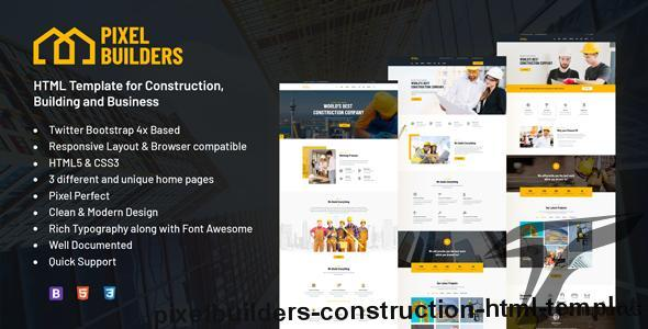 PixelBuilders - Construction HTML Template by pixelsigns