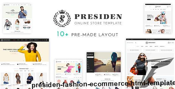 Presiden - Fashion eCommerce HTML Template by hastech