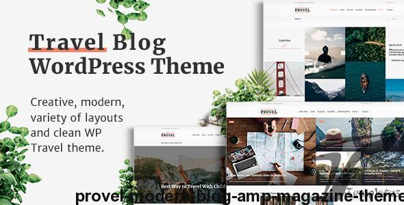 Provel - Modern Blog & Magazine Theme by ourproject