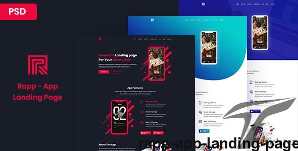 Rapp - App Landing page by xerotheme