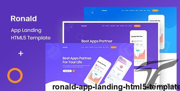 Ronald - App Landing HTML5 Template by themeadapt