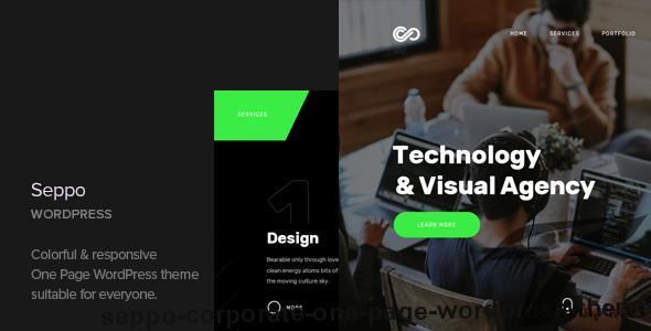 Seppo - Corporate One Page WordPress Theme by cocobasic