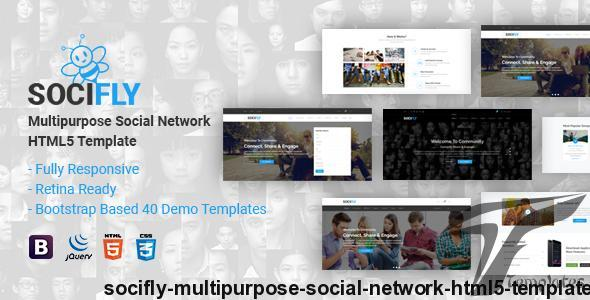 SociFly | Multipurpose Social Network HTML5 Template by themelooks