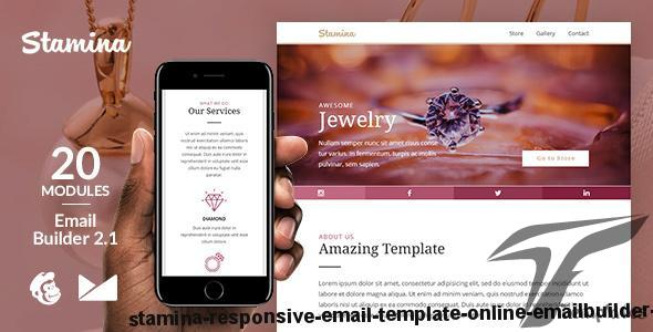 Stamina Responsive Email Template + Online Emailbuilder 2.1 by web4pro