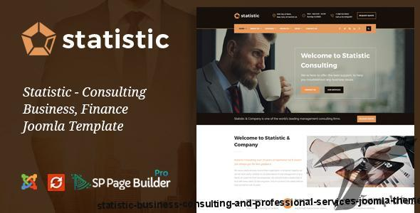 Statistic - Business Consulting and Professional Services Joomla Theme by joomlabuff