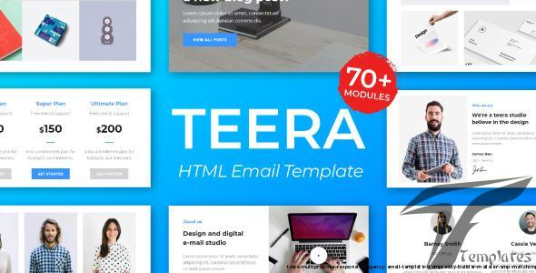 Teera - Multiprupose Responsive Agency Email Template + Stampready Builder + Mailster & Mailchimp by emailstudio
