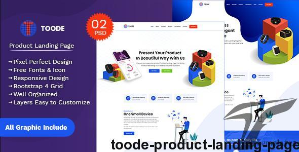 Toode - Product Landing Page by uiaxis