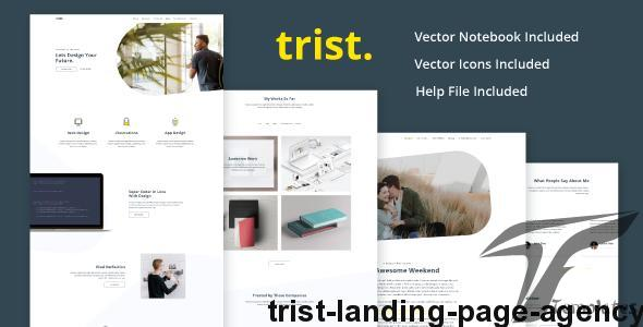 Trist - Landing Page Agency by logovskidesign