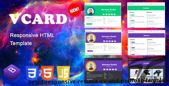 vCard - Responsive Resume, CV and Portfolio Template by developermamun