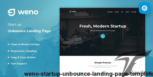 Weno - Startup Unbounce Landing Page Template by prextheme