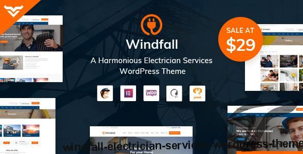 Windfall - Electrician Services WordPress Theme by victorthemes
