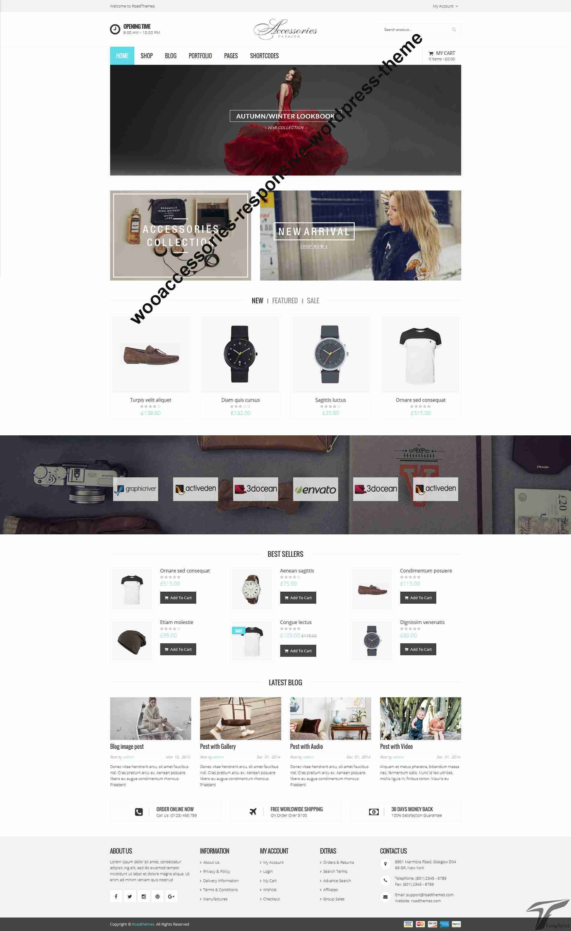 WooAccessories - Responsive WordPress Theme Screenshots