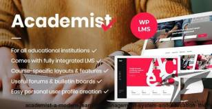 Academist - A Modern Learning Management System and Education Theme