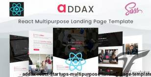 Addax - React Startups Multipurpose Landing Page Template By envytheme