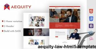 Aequity  – Law HTML5 Template By themexshaper
