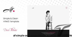 AF. - Simple & Clean HTML5 Template for Creatives By duruthemes