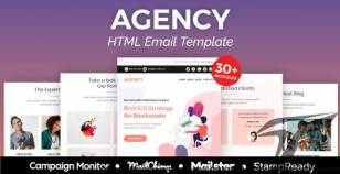 Agency - Multipurpose Responsive Email Template 30+ Modules -  Mailster & Mailchimp By aumfusion