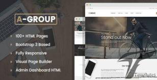 A-Group - Corporate & Business Company HTML template with Visual Page Builder and Dashboard Pages By mwtemplates