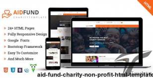Aid Fund - Charity, Non Profit, HTML Template By unique-theme