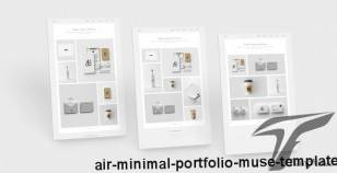 AIR - Minimal Portfolio Muse Template By juliapovarkova