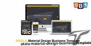 Akala - Material Design Business Template By themefunia