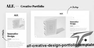 ALF. - Creative Design Portfolio Template